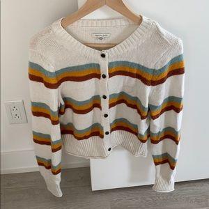 Adorable Multicolour Striped Cardigan
